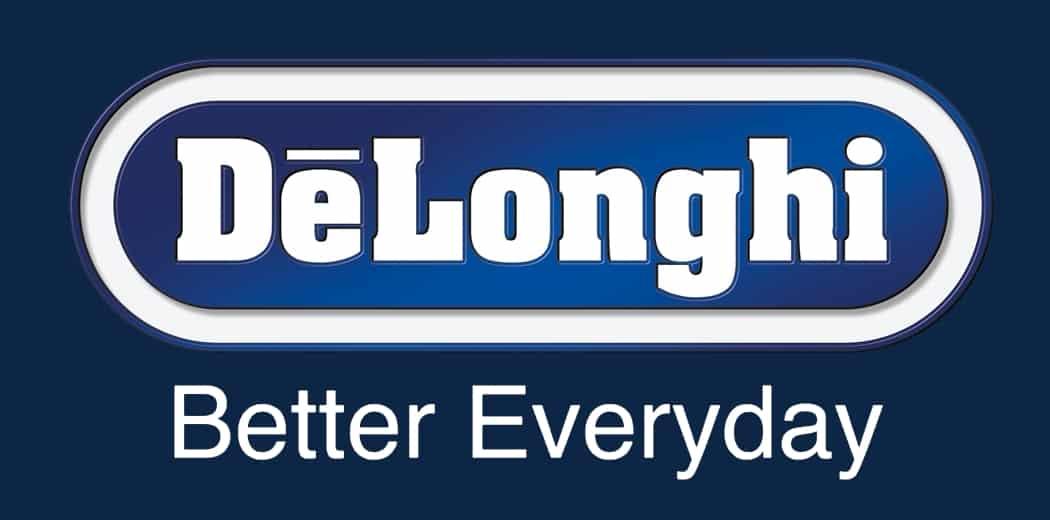 De'Longhi Logo blue background