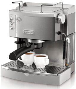 De'longhi 15 Bar Pump Espresso Maker EC702 Metal Front View