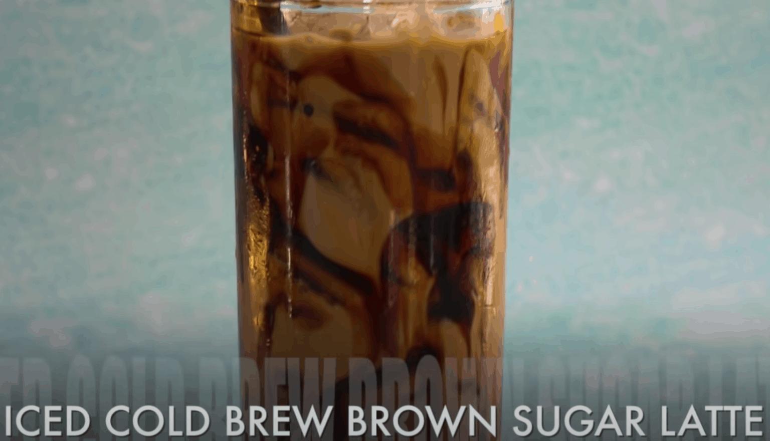 Iced Cold Brew Brown Sugar Latte