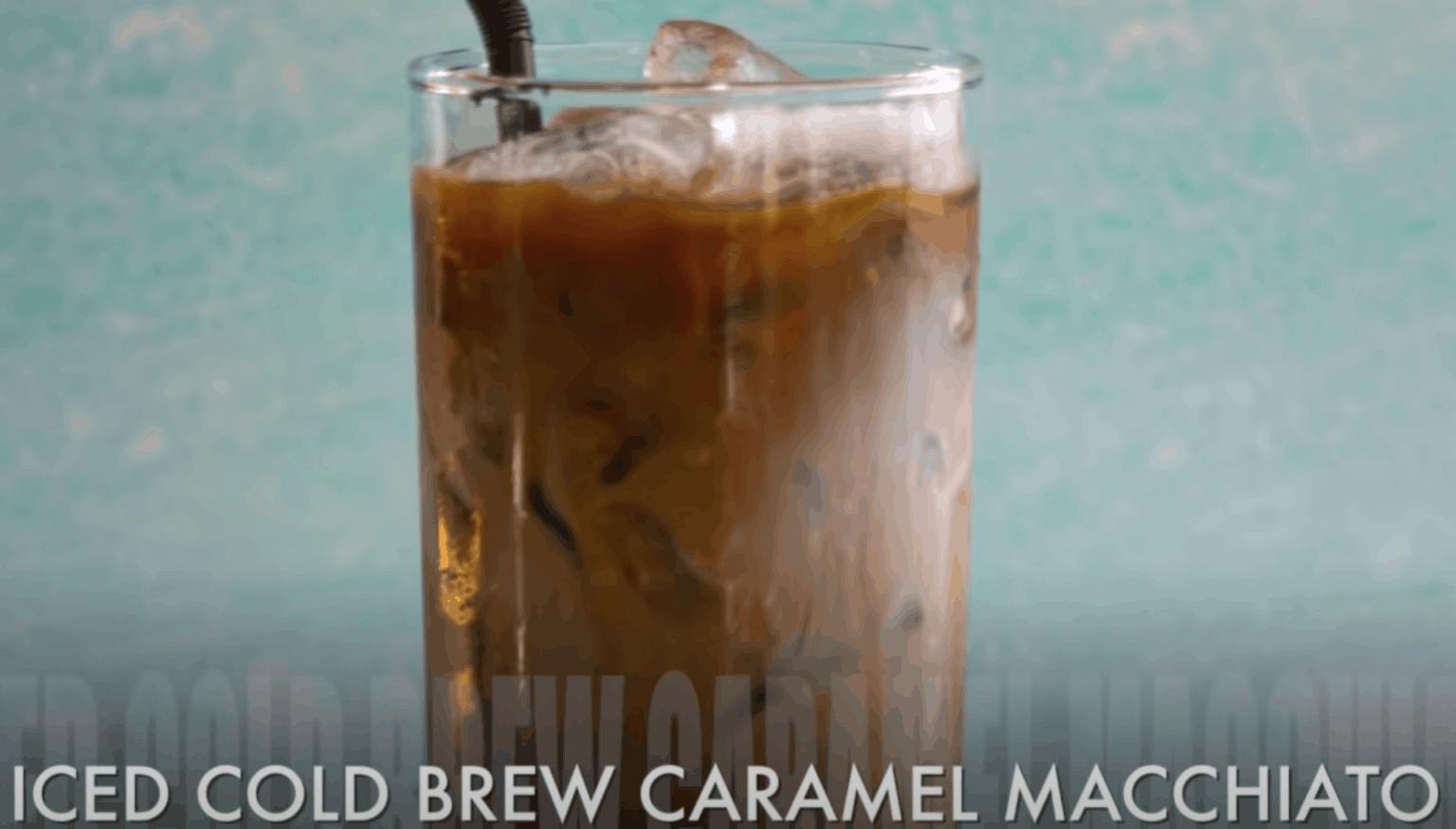Iced Cold Brew Caramel Macchiato